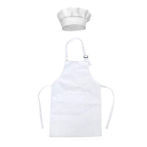 Mein HERZ Delantal Infantil + Gorro Cocinero Infantil,Delantal