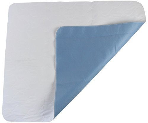 Krankenunterlagen Inkontinenzunterlage weiß-blau Gr. 85 x 90 cm 90 ° waschbar
