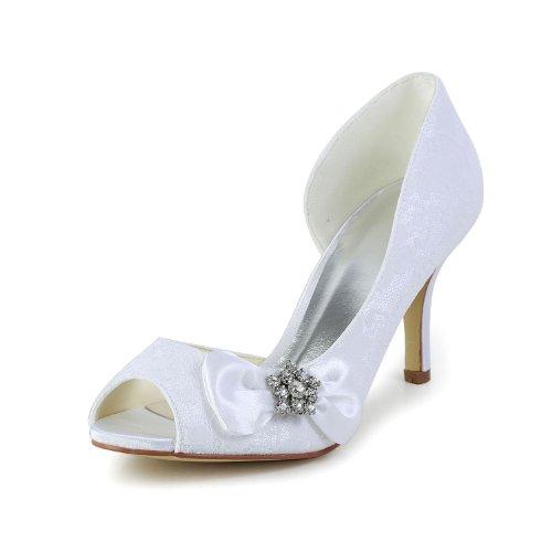 Jia Jia Wedding 083901 Scarpe Sposa Scarpe col tacco donna Bianco