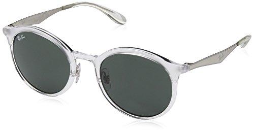 RAYBAN JUNIOR Unisex-Erwachsene Sonnenbrille Emma, Matte Crystal/Green, 51
