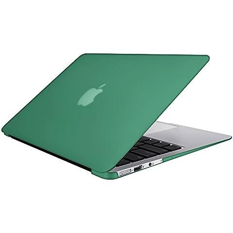 SlickBlue Macbook-Air-11 (A1465/A1370) recubierto de goma duro caja con Claro EU cubierta del teclado - Oceano