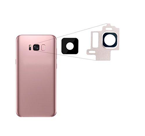 RepairMedia-Shop ★RM★ Für Samsung Galaxy S8 Kameralinse Kamera Objektiv Glas Scheibe Lens mit Rahmen Linse Rose Rosa Pink Ersatzteil ★RM★