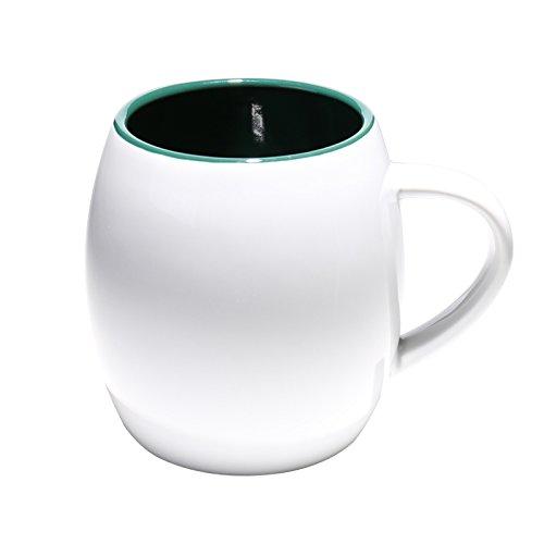 Hyl Café, Simple Marque Blanche Coupe Coupe l'eau De Grande Capacité, en Céramique,La Coupe De Vin Blanc