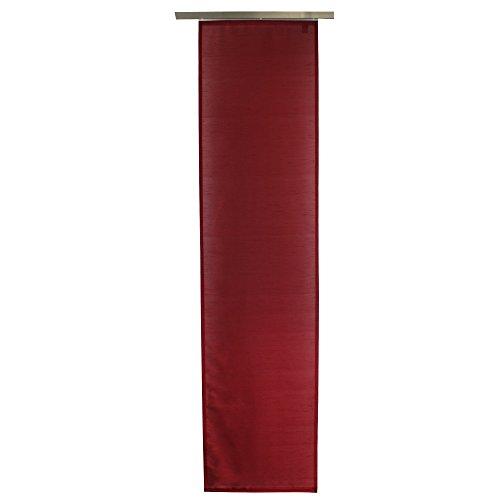 Gözze 66015-37-6045 dakar - tenda a pannello oscurante, scorrevole, effetto seta, fissaggio con velcro, in poliestere, certificazione oeko-tex standard 100, 60 x 245 cm, rosso