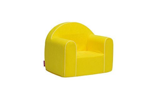Mini Kindersessel Kinder Babysessel Baby Sessel Sofa Kinderstuhl Stuhl Schaumstoff Umweltfreundlich (Gelb)