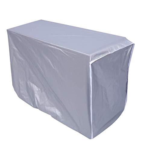 Copertura per condizionatore d'aria della finestra protezione antipolvere impermeabile schermo in tessuto d'argento ( dimensione : 80x28x54cm )