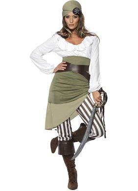 tume Woman Fancy Dress (Shipmate Piraten Kostüme)