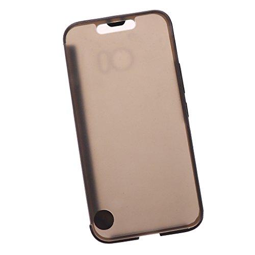 B Blesiya Ultra-Thin Dünne Ice View Handy Schutzhülle Case Cover für HTC 10 M10 (Schwarz)