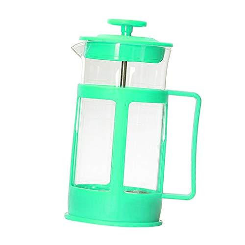 FLAMEER French Press Kaffeemaschine, Französisch Kaffee Kanne 350ml - Grün