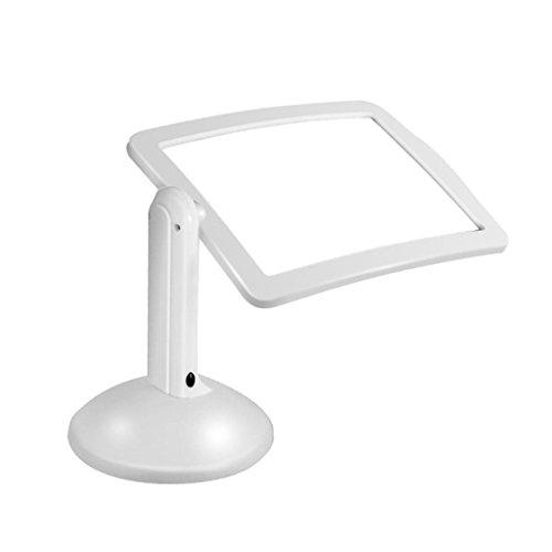 Rechteckige Leuchte (Hand-Freie Lupe mit 1 LED-Leuchten, Große Rechteckige 3X Lupe 180   Grad-Drehung Für Das Lesen von Zeitungen Schmuck Hobbys)