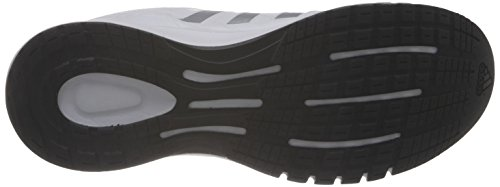 adidas Duramo 6 Lea Herren Laufschuhe Weiß (Running White Ftw/Metallic Silver/Black 1)