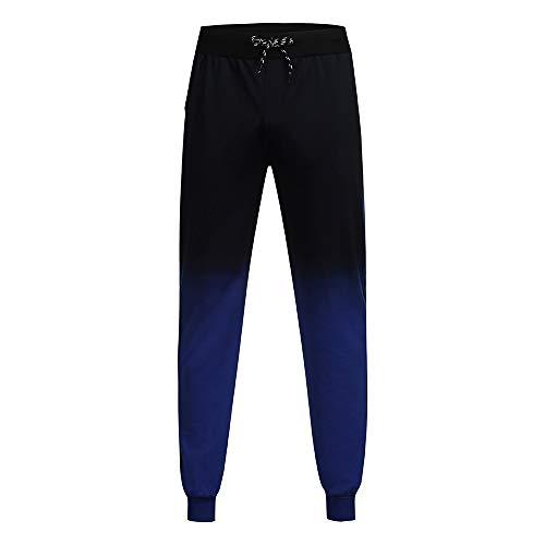 Pantalone Uomo Pantaloncini Jeans/Cravatta con Coulisse in Vita Casual Moda Uomo con Gambe a Trave Multitasche Pantaloni Sportivi da Jogging/Verde/M-3XL
