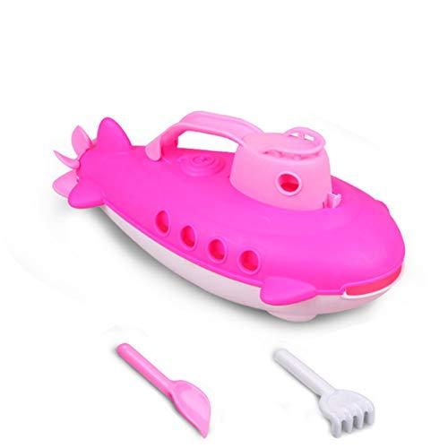 U-Boot Wasserfahrzeug mit Spinning hinten Propeller Sommer-Bad-Spielzeug Strand Kessel Boot Outdoor Wasser Sprühen Werkzeug lustige Gadgets Neuheit Interessante Spielzeug für Kinder - Rot