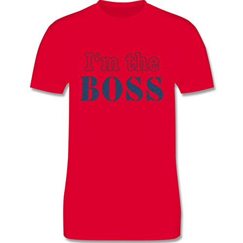 Statement Shirts - I'm the Boss - wie aufgenäht - Herren Premium T-Shirt Rot