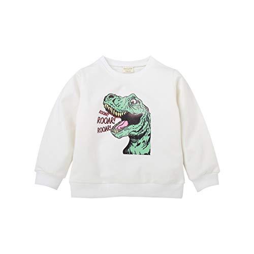 DIASTR Bekleidungsset Baby Jungen Mädchen Dinosaurier Brief Cartoons Tshirt Tops Sweatshirt Outwear Pullover Hochzeit Kleidung für Kinder(1~7jahre Alt) -