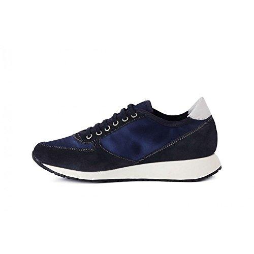 Blue Sneakers Blu Mulher De Laços Cetim Shoes Suede 43y3 T4xAwnBq5