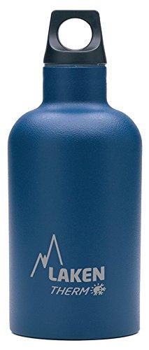 Laken Futura Botella Térmica Acero Inoxidable 18/8 y Doble Pared de Vacío, Unisex adulto, Azul, 350 ml