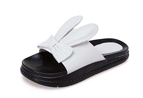 NobS Rabbit Ears Large Size pantofole dei sandali White