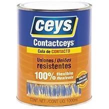Cola de contacto 1 l. - un litro contactceys para uniones flexibles y duraderas - Bote de 1000 ml. De cola de impacto uso general - Garantía ceys