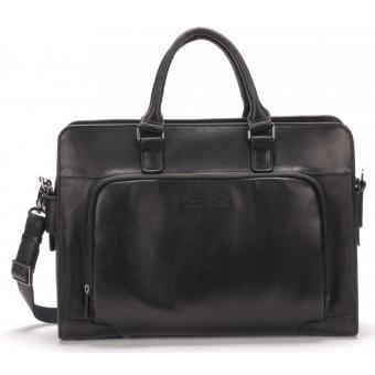 Porte documents bandouliere - cuir Arthur & Aston noir