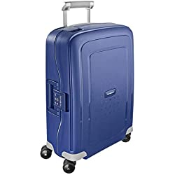 Samsonite S'Cure - Spinner S Bagage à main, 55 cm, 34 L, Bleu (Dark Blue)