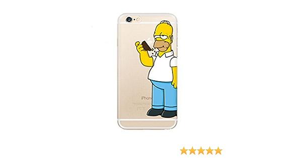 Abaure - Coque Homer Simpson Iphone 6s / 6 mange la pomme