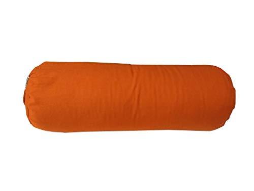 Traversin de yoga en sarrasin, Terre cuite/orange