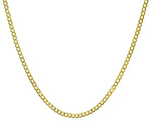 Citerna 7.8 g 9 ct Yellow Gold Curb Necklace of 46 cm Length and 0.4 cm Width