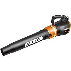 Batterie et souffleur turbine, 2niveaux, flux d'air 9,6m³, vitesse 145KM/H, 20 V, sans batterie, chargeur et accessoires -Worx WG546E.9.