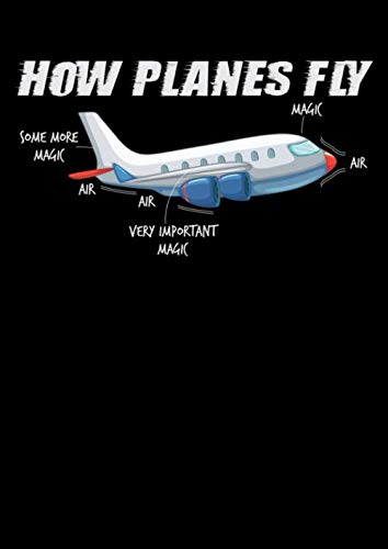 Notizbuch: Flugzeug Fliegen Magie Geschenk Pilot Stewardess 120 Seiten, A4, Karomuster, Kariert