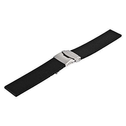 Uhrenarmband Silikon mit Faltschliee von Vollmer, 07052H7, 22 mm