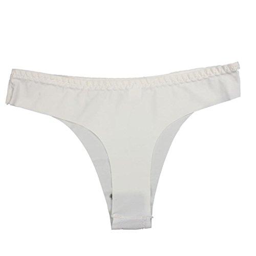 Malloom® Donna Sexy Mutande Thongs Perizomi Biancheria Intima Slip G-string Bianco