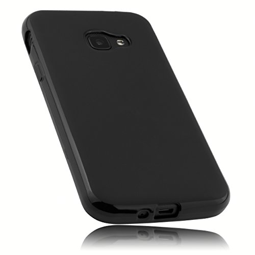 mumbi TPU Hülle kompatibel mit Samsung Galaxy Xcover 4 / 4S, schwarz