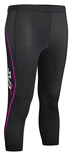 Sub Sports Women's Elite RX Graduated Compression Tights 3/4 schwarz Black/Pink L