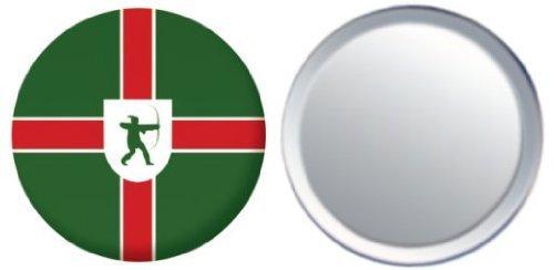 Miroir insigne de bouton Angleterre Nottinghamshire drapeau - 58mm