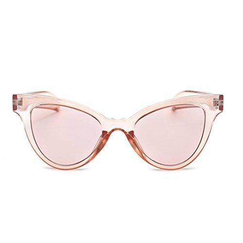 Dragon868 Sonnenbrille Damen Neutral Cateye Sonnenbrille Retro Herz Rahmen UV400 Brillen (Rosa)