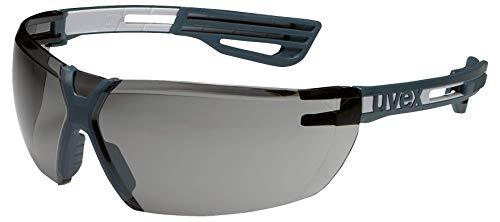 Uvex X-Fit Pro Schutzbrille - Getönte Arbeitsbrille - Grau-Schwarz