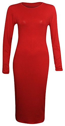 Candid Styles Damen Kleid Rot - Rot
