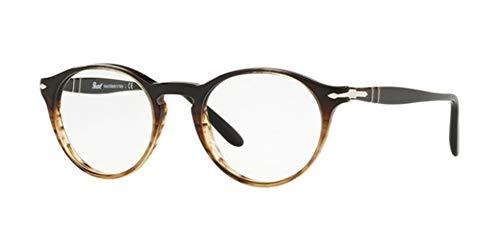 Ray-Ban Herren 0PO3092V Brillengestelle, Schwarz (Grad Black Striped Brown), 50
