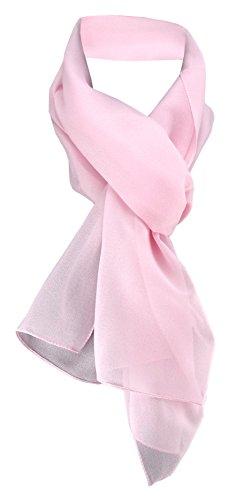 TigerTie Damen Chiffon Halstuch rosa zartrosa Uni Gr. 160 cm x 36 cm - Schal