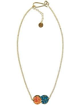 DESIGUAL Damen-Halskette Global traveller Versilbert-72G9EC22028U