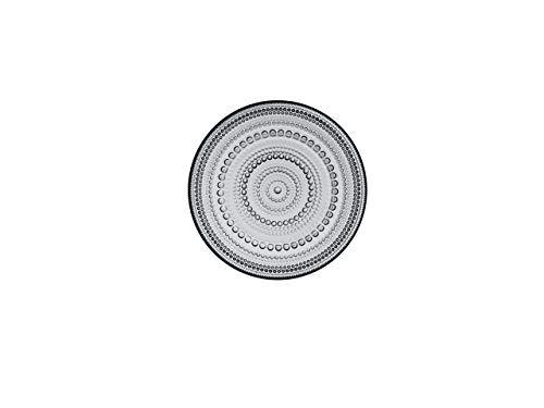 Iittala kasteh Elmi Assiettes et bols, verre, gris, 17 x 17 x 2 cm