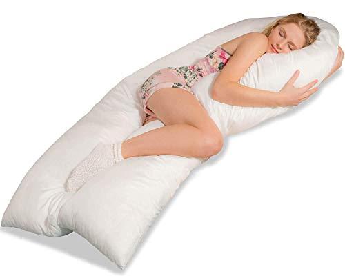 Traumreiter Jumbo XXL Seitenschläferkissen Schwangerschaftskissen U Form Körperkissen Seitenschläfer Kissen Full Body Pillow - Frauen Geld Ihr Nehmen