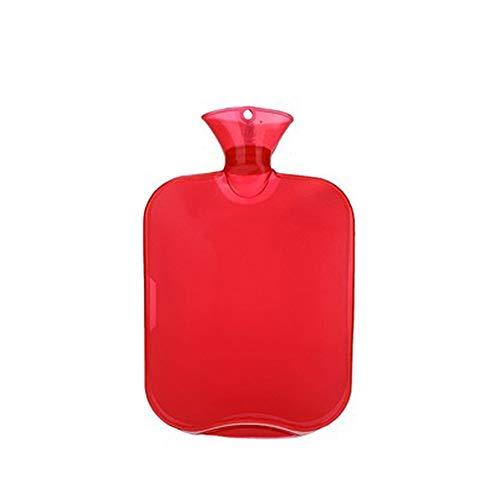 AAGOOD Große Flasche Extra Warmwasser Warmwasser verdicken Klare PVC-Beutel Wasserflasche höchster Qualität Gummi für eine bessere Isolierung 2000ml 67,3 Unzen Rot /