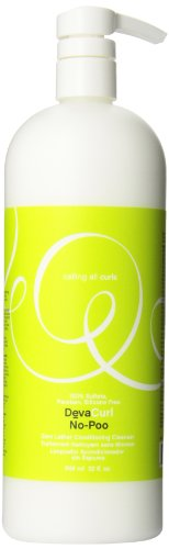 DevaCurl Créme de lavage No-Poo Cleanser - Pour des boucles pleines de vie et une protection maximale contre les frISO ttis - Non-moussant - 946 ml