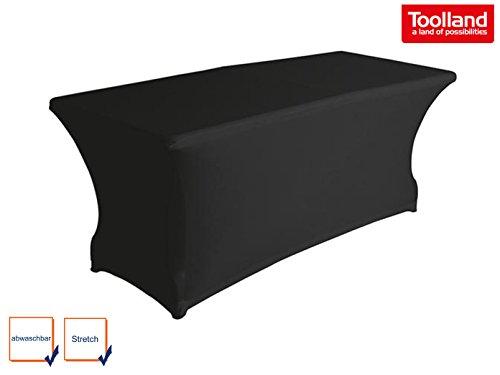 Tischhusse Strech Husse für rechteckige Tische Gartentische Klapptische Husse Tischüberzug - schwarz