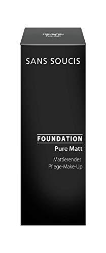 Sans Soucis Pure Matt Foundation für ölige, unreine und Mischhaut: Pflegendes Make-up mit Vitamin E und Thermalwasser für einen mattierten und ebenmäßigen Teint, Nr. 20 Natural Beige