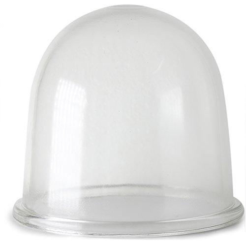 Shabby Glasglocke Ø 18cm H 15cm Dekoglocke Glashaube robustes klarglas