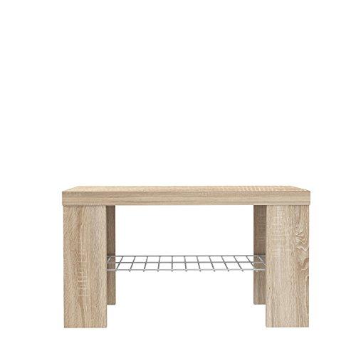 NEWFACE  Sitzbank, Holz, Sonoma Eiche Dekor, 69 x 34.79 x 38.9 cm
