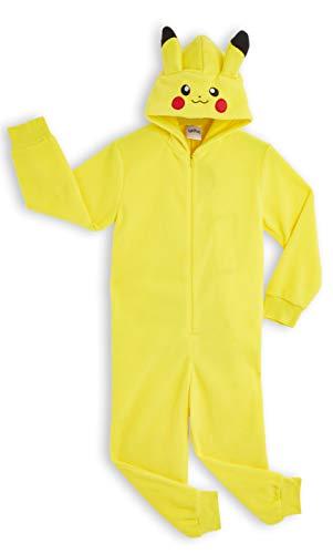 Pokémon Pikachu Schlafanzug, Kinder Jumpsuits Kostüm Tier Pyjama Onesie, Kuscheliger Kigurumi, Kostüm Kinder Jungen, Faschingskostüme, Perfektes Lustige Geek Cosplay Geschenk (5-6 Jahre)